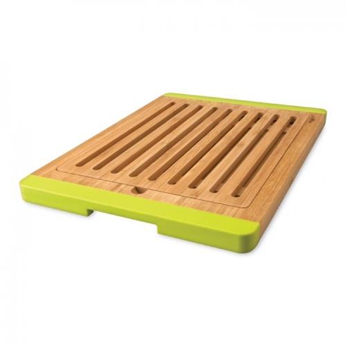Доска для хлеба бамбуковая с силиконовыми ручками, 38 х 37 см