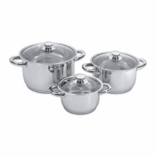 Набор посуды Vision premium со стекл. крышками, 6 пр.