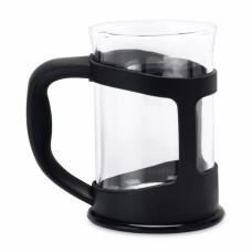 Склянка для чаю скляна, в чорній підставці, 200 мл, 2 шт.