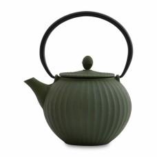 Чайник заварочный чугунный, темно-зеленый, 1,3 л