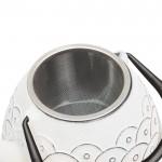 Чайник заварочный чугунный, белый, 950 мл