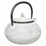 Чайник заварювальний чавунний, білий, 750 мл