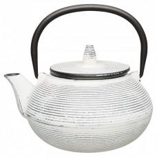 Чайник заварочный чугунный, белый, 750 мл