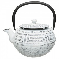 Чайник заварочный чугунный, белый, 650 мл