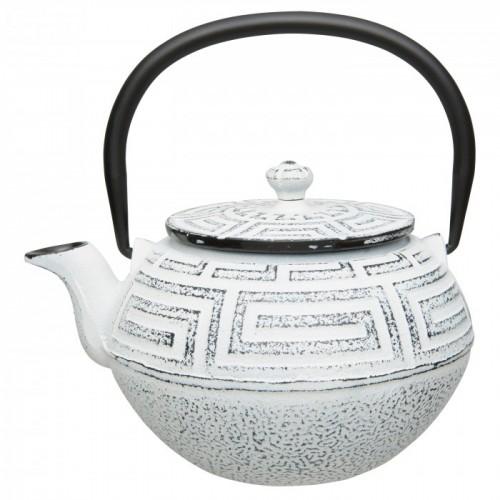 Чайник заварювальний чавунний, білий, 650 мл