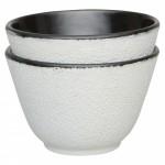Набір чашок для чаю, чавун, білий, 100 мл, 2 шт.
