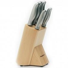 Набор ножей в колоде, с металлическими ручками, 6 пр.