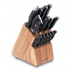 Набір ножів в колоді, 15пр.