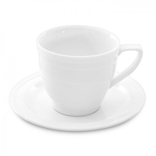 Чашка для сніданків Hotel, фарфорова, з блюдцем, 380 мл