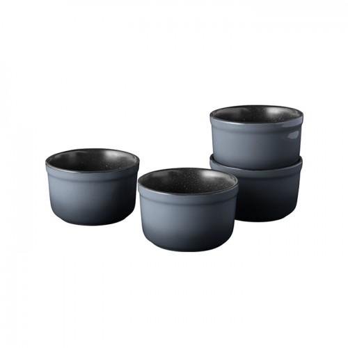 Набор форм керамических для выпечки GEM, круглые, диам. 10 см, 400 мл, 4 пр.