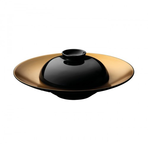 Тарелка для пасты GEM с крышкой, черная