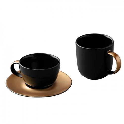 Набор для чая и кофе GEM, черный