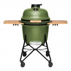 Большой керамический гриль-печь, зеленый