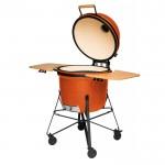 Большой керамический гриль-печь, оранжевый