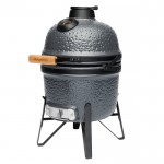 Маленький керамический гриль-печь, серый