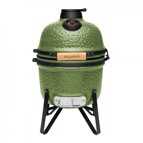 Маленький керамический гриль-печь, зеленый