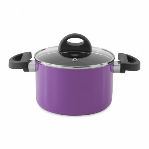 Кастрюля Eclipse с крышкой, фиолетовая, диам. 16 см, 2 л
