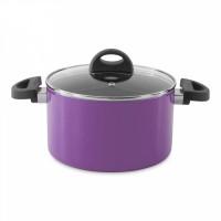 Кастрюля Eclipse с крышкой, фиолетовая, диам. 20 см, 3,7 л