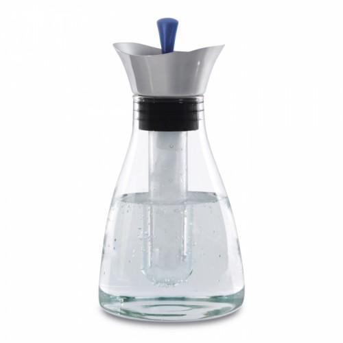 Графин для напитков стеклянный, с кришкой, диам. 13 см, Н 26 см, 1,2 л