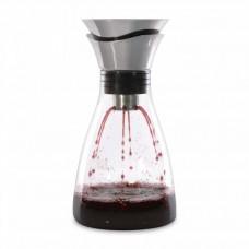 Графин для вина стеклянный, с крышкой-воронкой, диам. 13 см, Н 26 см, 1,2 л