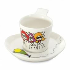Чашка для кофе Eclipse с блюдцем, 180 мл, 2 шт.