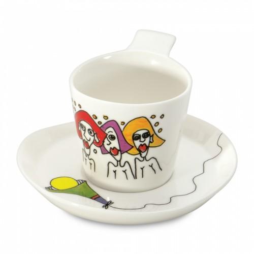 Чашка для кави Eclipse з блюдцем, 180 мл, 2 шт.