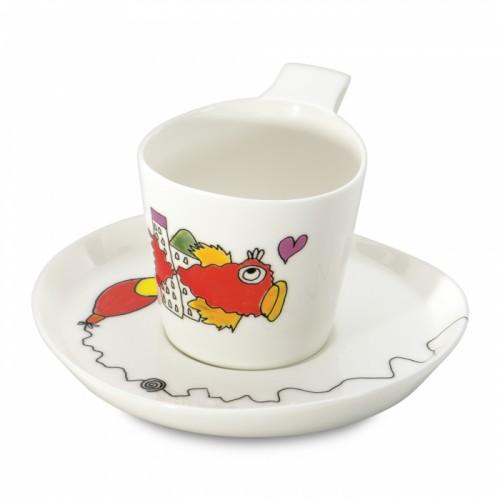 Чашка для чая Eclipse с блюдцем,  240 мл, 2 шт.