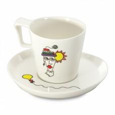 Чашка для завтрака Eclipse с блюдцем, 400 мл, 2 шт.
