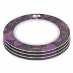 Тарілка Lover by Lover, фіолетова,діам. 21,5 см, 4 шт.