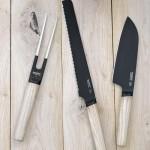 Нож для хлеба с деревянной ручкой RON, с покрытием, 23 см