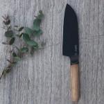 Нож Cантоку с деревянной ручкой RON, с покрытием, 16 см