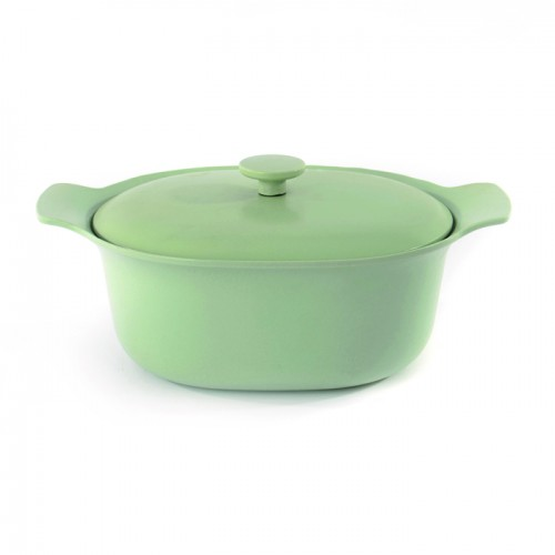 Кастрюля чугунная RON, светло-зеленая, диам. 28 см, 5 л