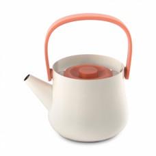 Чайник з ситечком, білий, 1 л