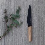 Ніж універсальний з дерев'яною ручкою, RON, з покриттям, 13 см