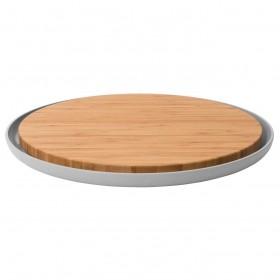 Дошка кухонна з підставкою LEO, кругла,діам. 36 см