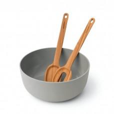 Набір для салату, миска і дерев'яні прибори, 3пр.