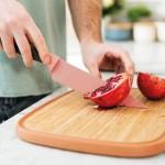 Нож поварской LEO с покрытием, розовый, 19 см