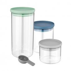 Набор стеклянных контейнеров для хранения LEO, 3 шт.