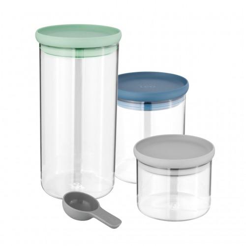 Набір скляних контейнерів для зберігання LEO, 3 шт.