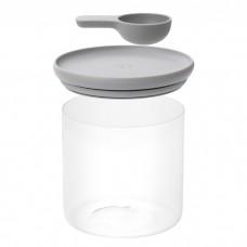 Контейнер для сыпучих с ложкой LEO, 1,1 л, 12,5 х 12,5 см