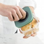 Контейнер для еды со смарт-системой хранения LEO, 0,4 л, 11,5 х 11,5 х 7,5 см