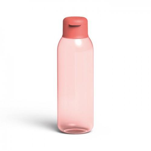 Пляшка для води LEO, пластикова, рожева, 0,75 л