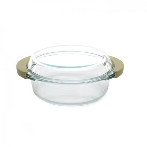 Кастрюля стеклянная с крышкой, 24 х 21 х 7 см, 1,5 л
