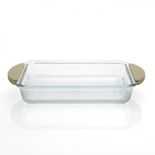 Форма для запікання, скляна, прямокутна, 27 х 45 х 5 см,  4 л