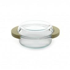 Кастрюля стеклянная с крышкой, 19,5 x 16 см, 0,7 л