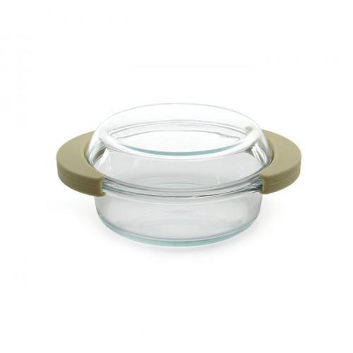 Каструля скляна з кришкою, 19,5 x 16 см, 0,7 л