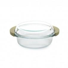 Кастрюля стеклянная с крышкой, 24 x 21 см, 1,5 л
