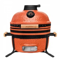 Средний керамический гриль-печь, оранжевый